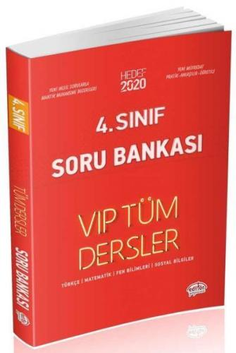 Editör 4. Sınıf VİP Tüm Dersler Soru Bankası-Kırmızı Kitap YENİ