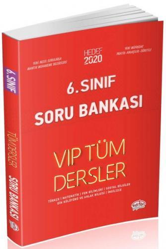 Editör 6. Sınıf VİP Tüm Dersler Soru Bankası-Kırmızı Kitap YENİ