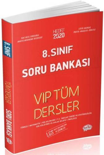 Editör 8. Sınıf VİP Tüm Dersler Soru Bankası-Kırmızı Kitap YENİ
