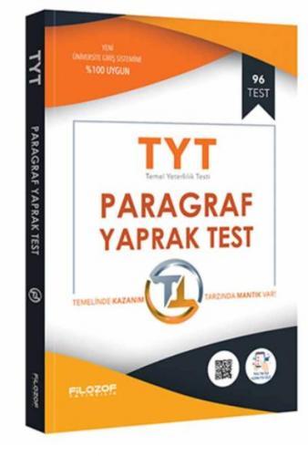 Filozof TYT Paragraf Yaprak Test-YENİ