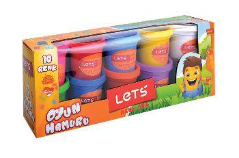 Lets 10 Renk Oyun Hamuru L83100 750Gr