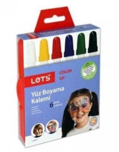 Lets 6 Renk Çevirmeli Yüz Boyama Kalemi L-6806