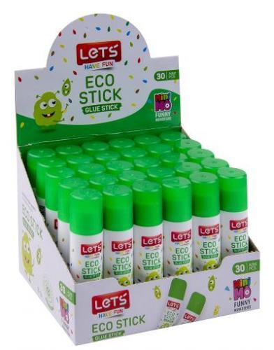 Lets Çevre Dostu Stick Yapıştırıcı 8gr (30 Adetli Kutularda)L-10108