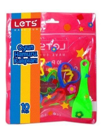 Lets Oyun Hamuru Kalıpları 10 Parça L8416