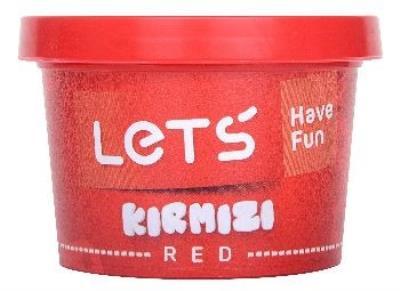 Lets Tek Renk Oyun Hamuru Kırmızı 150Gr L8340-2