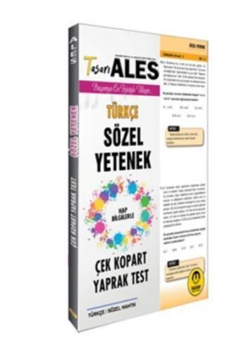 Tasarı ALES Türkçe Yaprak Test 2020-YENİ