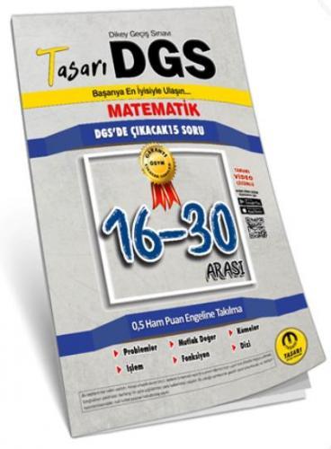 Tasarı DGS Matematik 16-30  Arası Garanti Soru Kitapçığı-YENİ