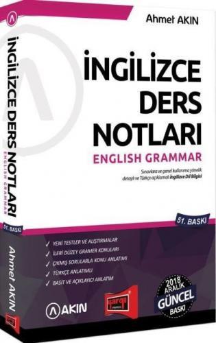Yargı-Akın İngilizce Ders Notları English Grammar-YENİ