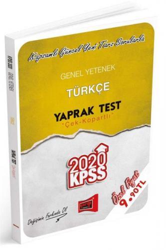Yargı KPSS Genel Yetenek Türkçe Çek Kopartlı Yaprak Test-YENİ
