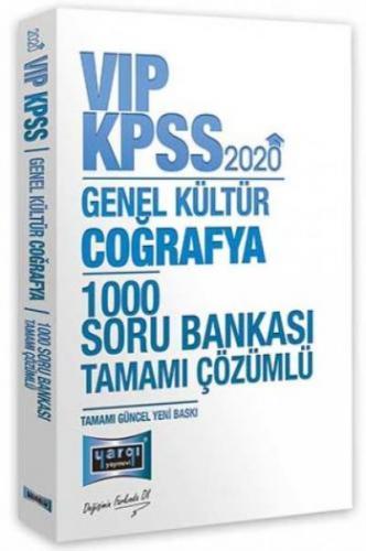 Yargı KPSS VİP Coğrafya Tamamı Çözümlü 1000 Soru Bankası 2020-YENİ