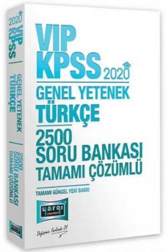 Yargı KPSS VİP Türkçe Tamamı Çözümlü 2500 Soru Bankası 2020-YENİ