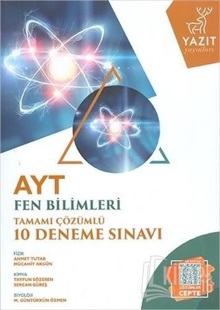 AYT Fen Bilimleri Tamamı Çözümlü 10 Deneme Sınavı - Kitap16