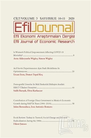 Efil Ekonomi Araştırmaları Dergisi Cilt: 3 Sayı: 10 -11 2020 - Kitap16