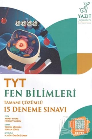 TYT Fen Bilimleri Tamamı Çözümlü 15 Deneme Sınvavı - Kitap16