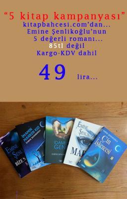 5 kitap kampanyası (Emine Şenlikoğlu) %42 indirimli Emine Şenlikoğlu