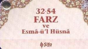 32 54 Farz ve Esmaül Hüsna (Kartela)