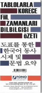 Tablolarla Korece Fiil Zamanlari ve Dilbilgisi Özeti
