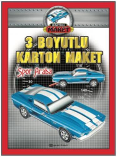 3 Boyutlu Karton Maket-Spor Araba
