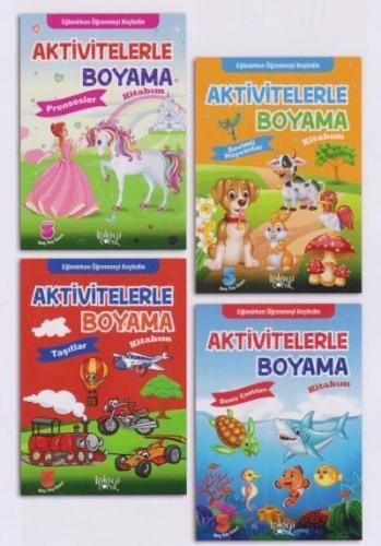 Aktivitelerle Boyama Kitabım Seti 4 Kitap Koloni Çocuk Kolektif