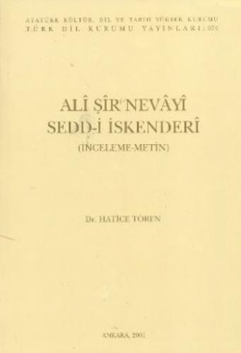 Ali Şir Nevayi Sedd-i İskenderi 3.Hamur