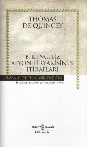 Bir İngiliz Afyon Tiryakisinin İtirafları (Ciltli)