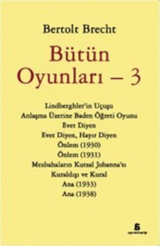 Bütün Oyunları 3 Bertolt Brecht