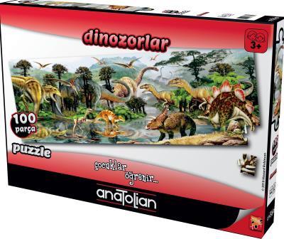 Dinazorlar 100 Parça Puzzle-7464