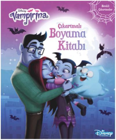 Disney Vampirina Çıkartmalı Boyama Kitabı Renkli Çıkartmalar