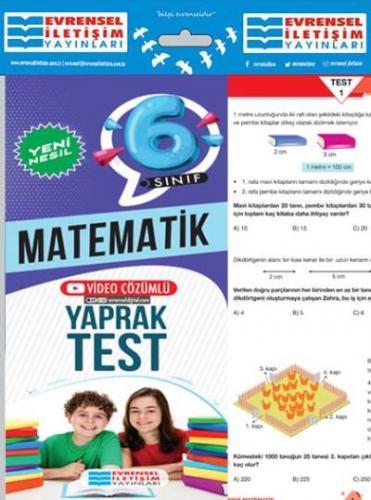 Evrensel 6. Sınıf Matematik Yeni Nesil Yaprak Test-YENİ Evrensel Ileti