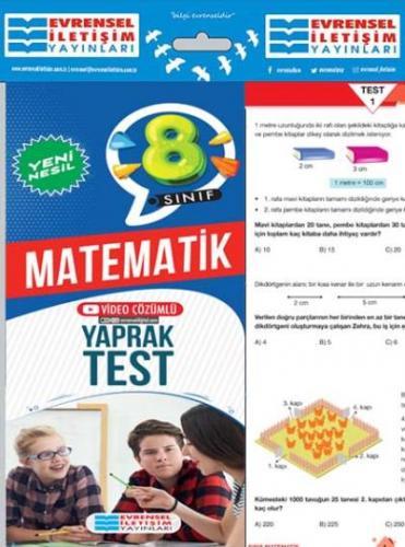 Evrensel 8. Sınıf Matematik Yeni Nesil Yaprak Test-YENİ Evrensel Ileti