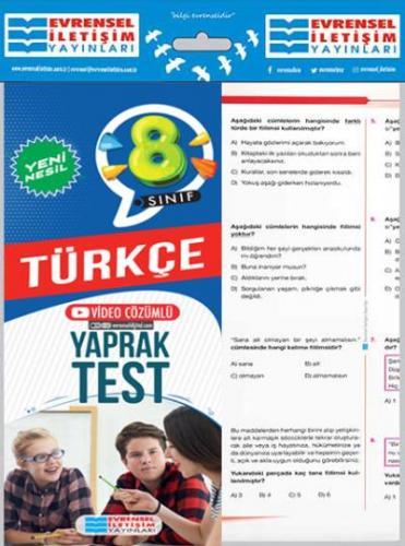 Evrensel 8. Sınıf Türkçe Yeni Nesil Yaprak Test-YENİ Evrensel Iletişim