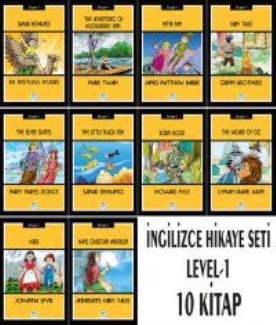 İngilizce Hikaye Seti 10 Kitap (Stage-1)