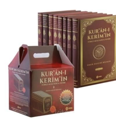 Kuranı Kerim'in Türkçe Meali Alisi ve Tefsiri 8 Cilt (Ciltli) Takım