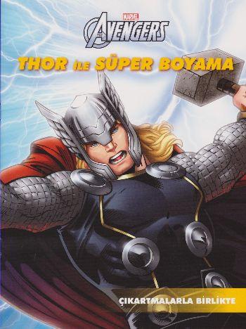 Marvel Avengers Thor ile Süper Boyama - Çıkartmalarla Birlikte