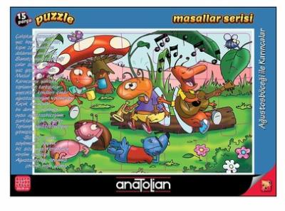 Masallar Serisi-Ağustosböceği İle Karıncalar 15 Parça Puzzle
