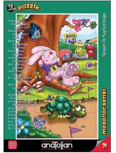 Masallar Serisi-Tavşan İle Kaplumbağa 15 Parça Puzzle
