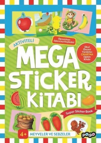 Mega Sticker Kitabı-Meyveler ve Sebzeler 4+