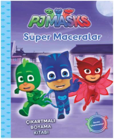 Pj Maskeliler Süper Maceralar Çıkartmalı Boyama Kitabı