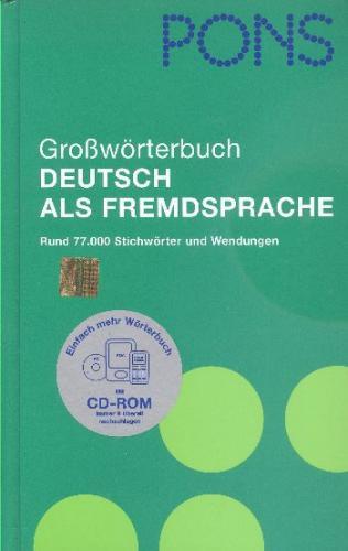 PONS GroBwörterbuch Deutsch Al  Fremdsprache