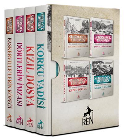 Sherlock Holmes Roman Seti-4 Kitaplık Kutulu Set