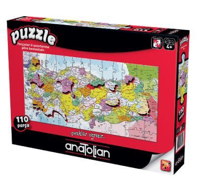 Türkiye Haritası İller (Puzzle 110) 7401