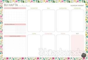Süresiz Haftalık Planlayıcı - Çiçek Desenli