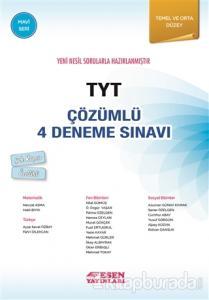 TYT Çözümlü 4 Deneme Sınavı - Mavi Seri