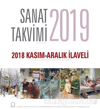 2019 Sanat Duvar Takvimi - 2018 Kasım-Aralık İlaveli