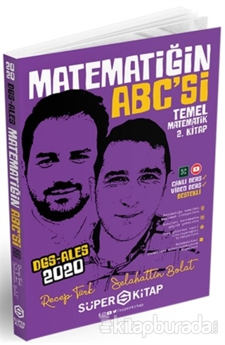 2020 DGS-ALES Matematiğin ABC'si Temel Matematik 2. Kitap