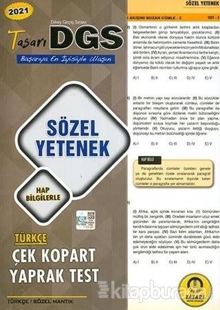 2021 DGS Sözel Yetenek Çek Kopart Yaprak Test Kolektif
