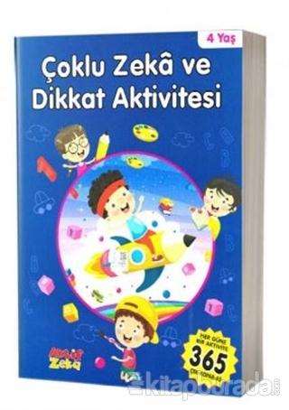 4 Yaş Çoklu Zeka ve Dikkat Aktivitesi - Mavi Kitap