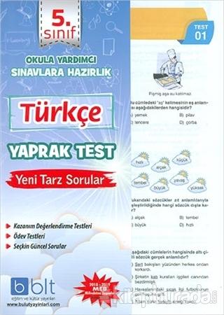 5. Sınıf Türkçe Yaprak Test
