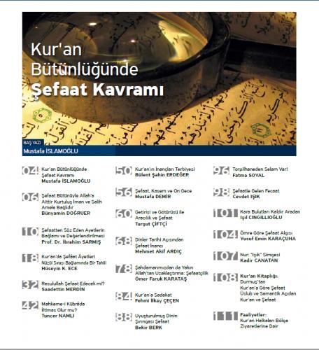Kur'ani Hayat Dergisi/ Şefaat / Kasım-Aralık 2016 50.Sayı Kolektif