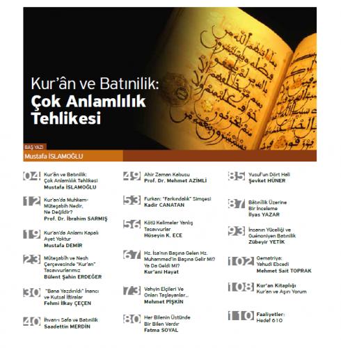 Kur'ani Hayat Dergisi/ Batınilik / Ocak-Şubat 2017 51.Sayı Kolektif